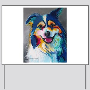 Maggie the Border Collie, Aussie, Austra Yard Sign